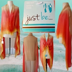 Pretty sunset color cover up/scarf